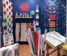 The Valori Wells Blueprint Basics section of the Robert Kaufman booth at Spring '14 Quilt Market in Pittsburgh, PA