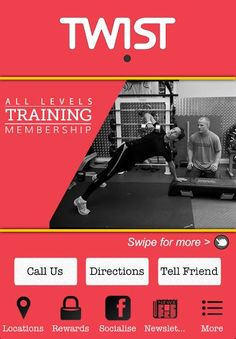 """Welcome to TWIST GYM App!<p>""""IT'S A GYM, NOT AS YOU KNOW IT""""<p>Imagine a place where you never get ignored. A place where your goals and restrictions are never forgotten. We say hello and goodbye, but the best bit is the bit in the middle of that.<p>We will treat you like a member of the family not a member tied into a gym contract where you're stuck.<br>Don't be put off by the exterior of our gym, the heart and soul is the most important part. <p>App features:<p>- View class timetable at…"""