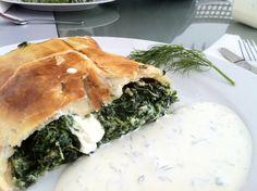 Spinach Strudel, Rosie S. Strudel, Spanakopita, Spinach, Ethnic Recipes, Food, Cooking, Essen, Meals, Yemek