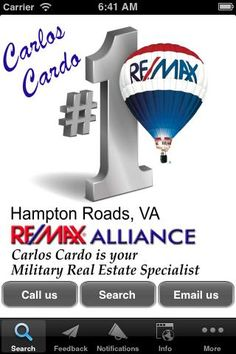 FREE Mobile app to Search Homes For Sale in All of Hampton Roads, VA. This includes Virginia Beach, Norfolk, Chesapeake, Portsmouth, Hampton, Newport News, and Suffolk.   The most detailed maps, pictures, and information possible. You can also save favorites, and search properties new you! One of the Easiest apps you will ever use for Real Estate in Virginia! Imagine when you are searching for homes in your car this information goes with you!