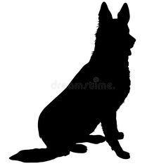 German Shepherd Silhouette - Download From Over 65 Million High Quality Stock Photos, Images, Vectors. Sign up for FREE today. Image: 35577223