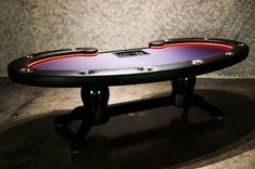 Lumen HD Poker Table with LED Lighting System - FREE SHIPPING - p-664