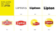 Evolución del logotipo de Lipton #Logo #Branding #Logotipo #Marcas #Identity #Naming