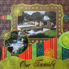 This is a travel scrapbook page with a frame from Cricut Elegant Edges - from Me and My Cricut | Travel Scrapbook 23 � Heritage Trip | http://meandmycricut.com
