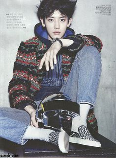 EXO's Chanyeol featured in The Celebrity Magazine, November 2014 issue.