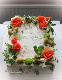 Kakkupuoti MariAnnika: Voileipäkakut Pudding, Desserts, Recipes, Cold, Savory Snacks, Food Cakes, Salad, Dekoration, Tailgate Desserts