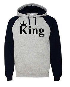 5b8e5210866 King Queen Hoodie Couple Hooded Sweatshirt Boyfriend