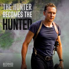 The hunter becomes the hunted. Tom Hiddleston is James Conrad in #kongskullisland, now playing in theaters everywhere – Get Tickets