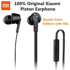 Original Mi Piston 3 Earphone Basic Edition Microphone flat wire Stereo In-Ear Headsets with Mic for Xiaomi Android iOS MP3 PC //Price: $10.44 & FREE Shipping //     #hashtag2