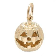 Jack O Lantern $42.50  Available in Sterling Silver, Gold Plate, 10kt and 14kt Gold. Easy Viewing and Secure Ordering. Factory Lifetime Warranty on All Rembrandt Charms and Charm Bracelets.