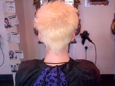 A Lovely Blonde Short Restyle Done By Fiona x