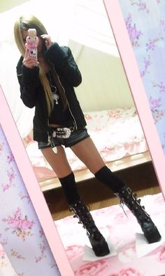 Her goth boots!
