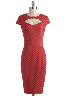 Big Band Singer Dress in Red, #ModCloth  not sure about the big button at the top front though...