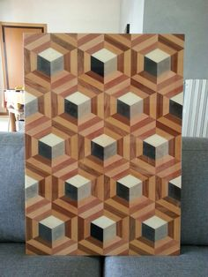 Diy Cutting Board, Wood Cutting Boards, Woodworking Box, Woodworking Projects, Wood Floor Pattern, Wood Mosaic, Wood Tile Floors, Wood Creations, Wood Patterns