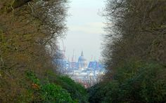 View of St Paul's Cathedral from King Henry's mound in Richmond Park. This is a protected vista with a legal requirement within urban planning to preserve the view.