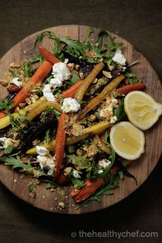 Roasted Carrot With Almond Dukkah + Labne Fabulous Teresa Cutter, The Healthy Chef, Australia
