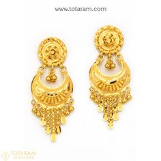 Cleaner For Gold Jewelry Chand Bali Earrings Gold, Gold Bridal Earrings, Gold Earrings Designs, Gold Drop Earrings, Necklace Designs, Gold Designs, Ring Designs, Gold Necklace, Indian Gold Jewellery Design