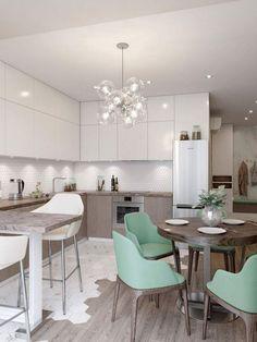Scandinavian Dining Room Design: Ideas & Inspiration - Di Home Design Home Decor Kitchen, Kitchen Interior, Home Interior Design, Home Kitchens, Diy Kitchen, Interior Architecture, Elegant Dining Room, Dining Room Design, Deco Design