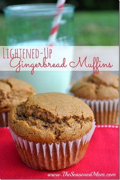Lightened-Up Gingerbread Muffins  www.theSeasonedMom.com