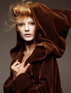 corduroy velvet - extrarisque:    classicmodels:    Ieva Laguna by Greg Kadel for Vogue Germany     Stunning shot!!