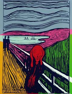 Andy Warhol, The Scream (After Munch). Unique Screenprint, 1984. Est. 200,000 - 300,000 British Pounds Photo: Sotheby's.