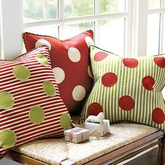 Our festive Dot Stockings have been a family favorite for years. This holiday season, we created this fun companion Pillow Cover to go with them.