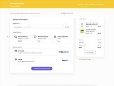 Checkout interface by Alexander Tsibulski - Dribbble