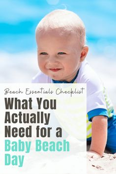 A day at the beach offers sun, sand and relaxation, but you'll want to be sure to plan ahead and pack all the beach essentials for baby! Baby Beach Tips, Baby Beach Gear, Baby Gear, Baby Tips, Traveling With Baby, Travel With Kids, Family Travel, Flying With A Baby, Beach Essentials