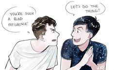 Basically dan and phil games videos recently #phanart #donotrepost #watercolour
