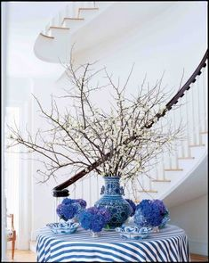 CELEBRATING A PASSION FOR BLUE AND WHITE BY CAROLYNE ROEHM WITH ...