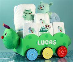 Caterpillar Wagon & Layette for Boy