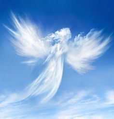 angel, clouds, and sky image Beautiful Sky, Beautiful World, Beautiful Gifts, Statue Ange, Angel Clouds, I Believe In Angels, Ange Demon, Angel Pictures, Angels Among Us