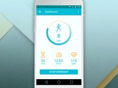 fitness app material design animations