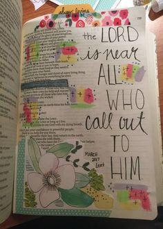 Psalm 14518 Bible Journaling Through Lent week 3