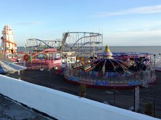 The Rides On The Pier at Clacton-On-Sea-Essex England