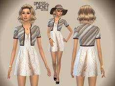 The Sims Resource: Dress&Jacket by Paogae • Sims 4 Downloads