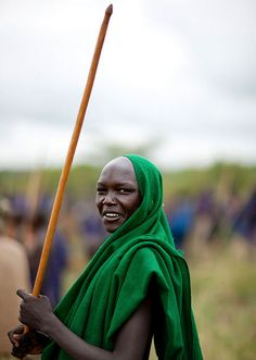 Suri warrior in the omo valley, by eric lafforgue