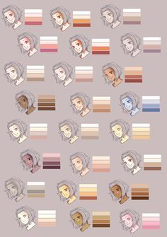 Drawing Tutorial http://rueme.deviantart.com/art/Skin-Colour-Palette-186785308?q=boost:popular%20colour&qo=165 ★ || CHARACTER DESIGN REFERENCES (www.facebook.com/CharacterDesignReferences) invites you to support the Artists and Studios featured here by buying this and other artworks in their official online stores • Find us on www.pinterest.com/characterdesigh | www.youtube.com/user/CharacterDesignTV and learn more about #concept #art #animation #anime #comics || ★