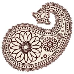 paisley patterns | Stock photo - Vector Hand-Drawn Abstract Henna (mehndi) Paisley Doodle ...