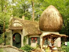 Cute mushroom house, Efteling, Netherlands.   Go to www.YourTravelVideos.com or just click on photo for home videos and much more on sites like this.