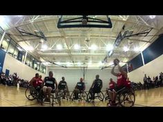 Wounded Marines take the first round of Wheelchair Basketball at the Warrior Games