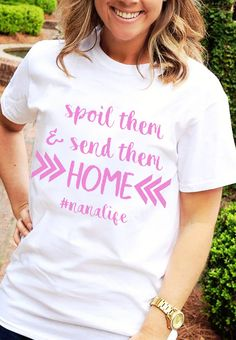 Personalized gifts for all occasions - baby, wedding, graduation and more; adding a personal touch is easy when you shop with us. Funny T Shirt Sayings, T Shirts With Sayings, Funny Tshirts, Baby Wedding, Text Style, Personalized Shirts, 50 Fashion, Teacher Shirts, Casual Elegance