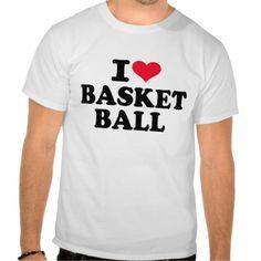 I love basketball shirt #I #love #basketball #heart #sports $25.95
