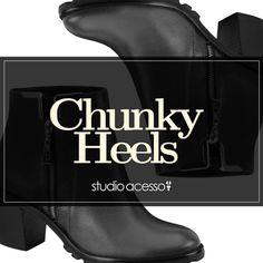 Chunky Heels - Studio Acesso  http://viroutendencia.com/2014/07/06/botas-chunky-heels-na-studio-acesso/