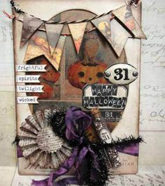 Halloween Cabinet Card by Tim Holtz & General Craft Projects at Joann.com
