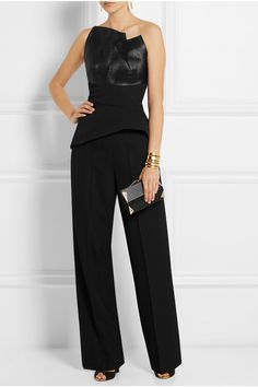 Roland Mouret top and clutch, Haider Ackermann pants, Paul Andrew sandals