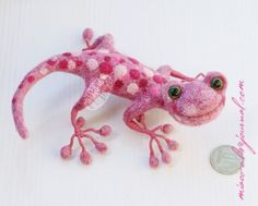 Felted Lizard/Gecko ~ Cute!