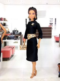 On Reserve For Specific Customer- Barbie Doll Dress - Black Dress with V-Shaped…