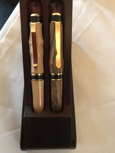 Beautiful unique Wood Turned Pens Made on Anglesey Pen Turning, Anglesey, Candle Sconces, Pens, Wall Lights, Candles, Wood, Unique, Beautiful