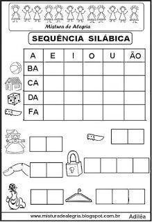 Sequência silábica Portuguese Lessons, English Activities, Homeschool, Teaching, Lucca, Gabriel, Word Search, Fantasy Art, Words